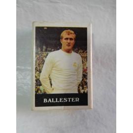 Caja de cerillas con jugador de futbol Ballester del Real Madrid