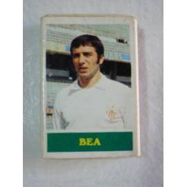 Caja de cerillas con jugador de futbol Bea del Sevilla F.C.