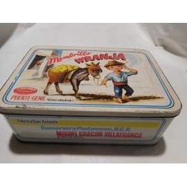 Antigua caja de dulce membrillo de Puente Genil Cordoba Wranja preciosa año 73/74 Miguel Chacon