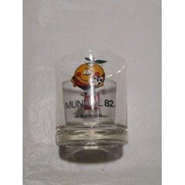 Vaso de Naranjito Mundial 82. Coca cola promicional.