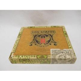 Antigua caja de puros habanos cigarros los Statos de Luxe. Vacía.