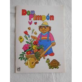 Cuaderno antiguo de dos rayas con el entrañable Don Pimpon Barrio Sesamo. Años 80.