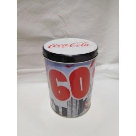 Lata de colección Coca cola años 60. Nueva.