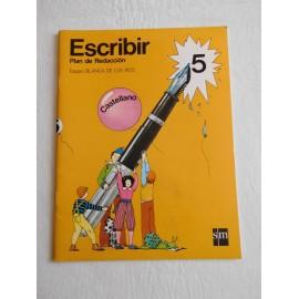 Libro plan de Redacción para escribir ed. Santillana 5º egb E.G.B. Año 1982.