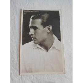 Postal de actor del cine mudo Rodolfo Valentino.