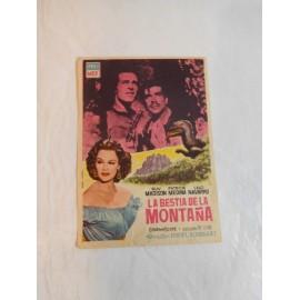 Programa de cine La Bestia de la Montaña.