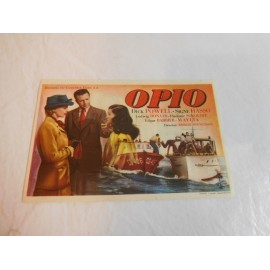 Programa de mano Opio.
