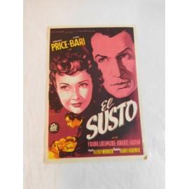 Programa de cine. El Susto. Publicidad Cinema Coca.